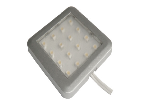 LEDw@re | Closet | LED Kastverlichting | Square | 1 Lampje | 1 Watt | 12 Volt | Warm Wit |