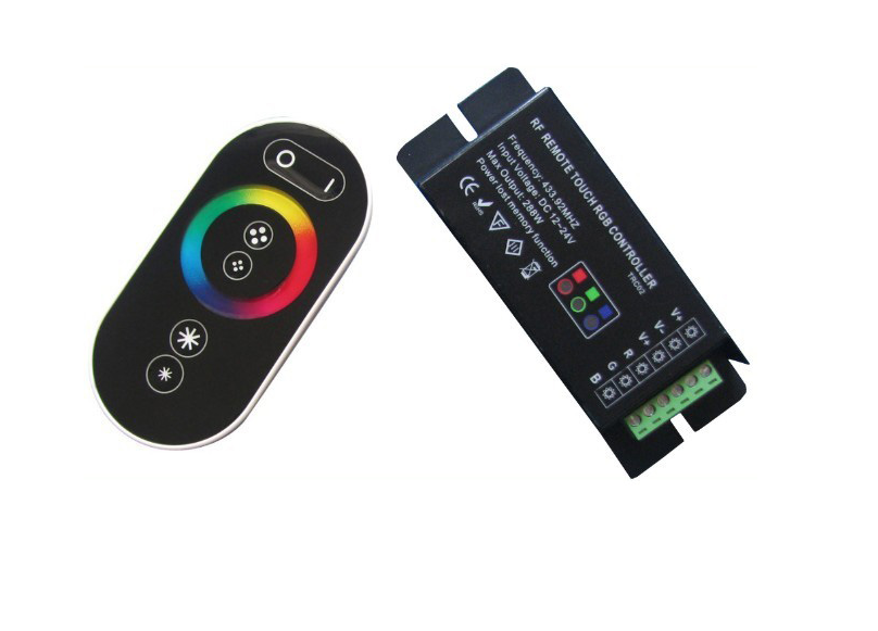 APPLE Control | Black | RGB LED Controller | 3 x 72 Watt | 12-24 Volt | + Afstandbediening