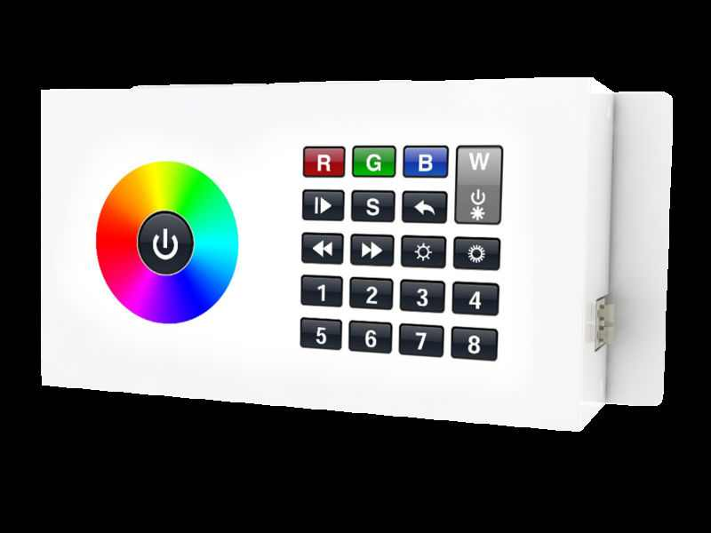 LED Controller | DMXw@re Touch Panel, wall mount | DMX | RGBW | 8 Zonne | Wifi | RJ45