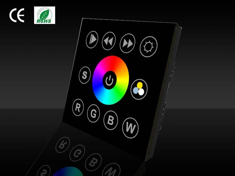 LED Controller | DMXw@re Touch Panel, wall mount | DMX | RGBW | Witte front