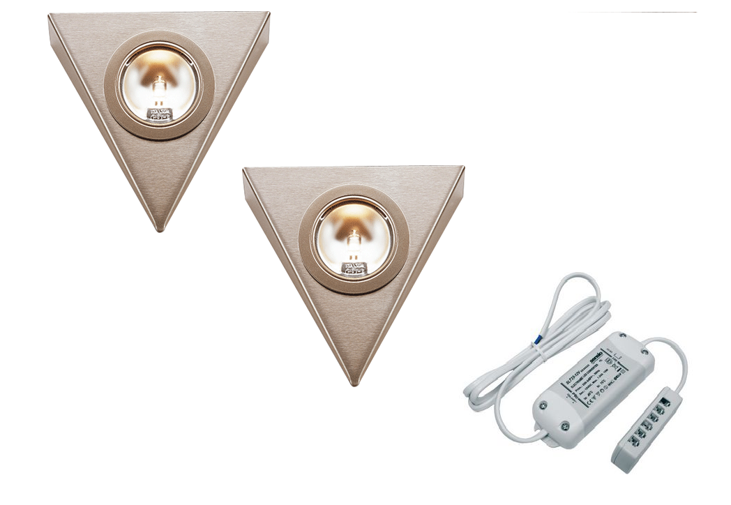 LEDware | Halogeen driehoek | 2 LED spots | Doe Zelf Kit | Warm Wit
