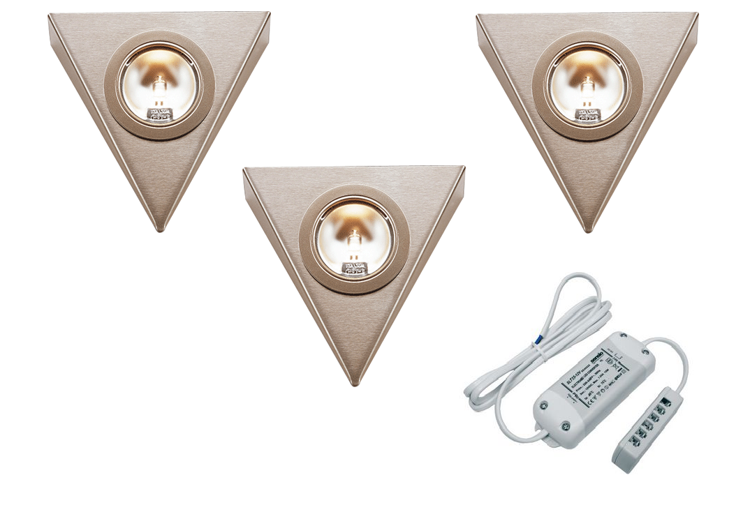 LEDware | Halogeen driehoek | 3 LED spots | Doe Zelf Kit | Warm Wit