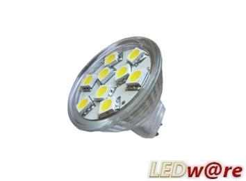 LED steeklampje | 12 Volt | 12 LED | 2,9 W | VV 20 W | Warm Wit | GU4 | MR11 | 90 graden