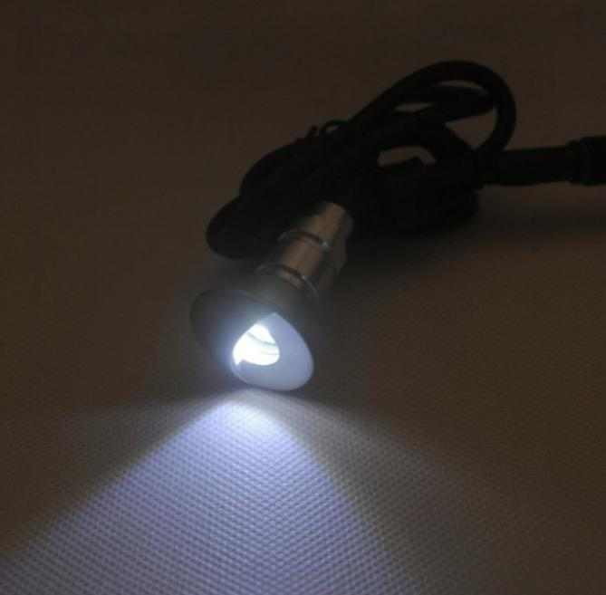 LEDw@re | Lamp IP67 | Warm Wit | Rond | 0,24 Watt | 18 mm | Haaks