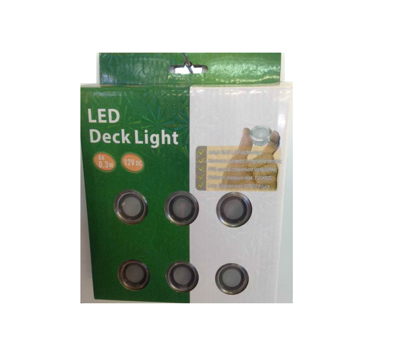 LEDw@re | LED Grondspot | 12 Volt | Rond | 6 x 0,3 Watt | Warm Wit | macSCB105BWW