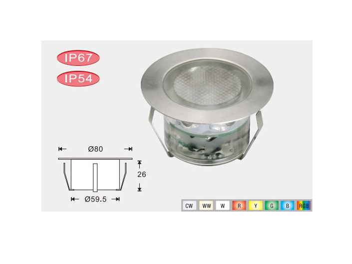 LEDw@re | LED Grondspot | 12 Volt | Rond | 6 x 2,5 Watt | Warm Wit | macSCB107AWW
