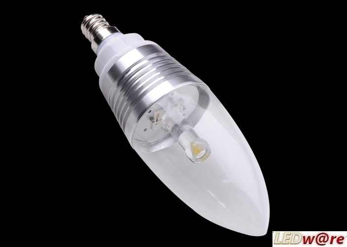 LED Kaars lang | 230 Volt | 4 Watt | VV 24-40 Watt | Warm Wit | E27