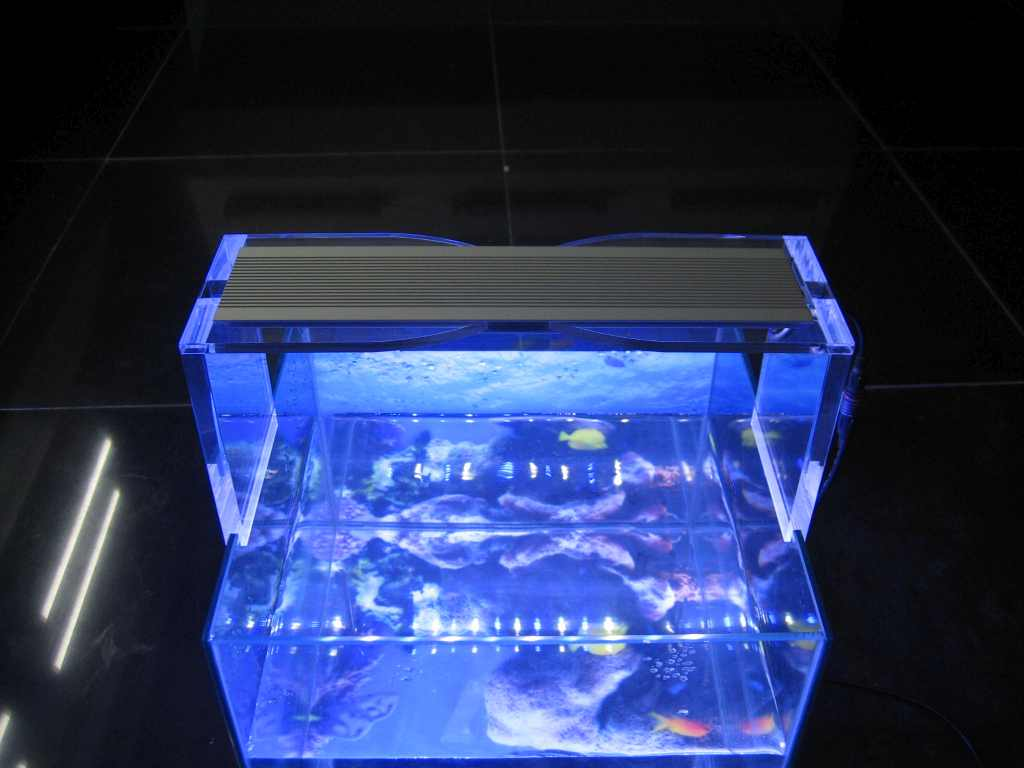 LED Aquarium Lamp | 12Watt | 283x69x9mm Cm | VV 48 Watt | Wit - Blauw