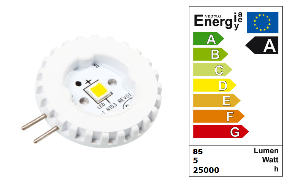 LED steeklampje | 12 Volt | 1,5 W | VV 10 W | Warm Wit | G4 | 85 Lumen