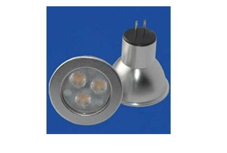 LED steeklampje | 12 Volt | 3 LED | 3 W | VV 20 W | Extra Warm Wit | GU4 | MR11 | 30 grade