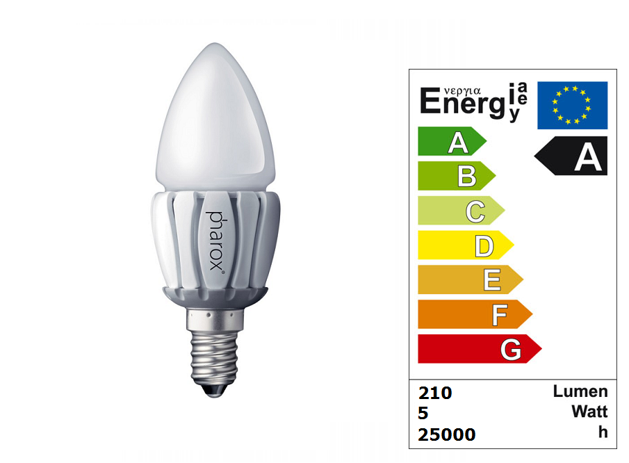 LED Lamp | 230 Volt | 5 Watt | VV 24-40 Watt | Warm Wit | E14 | Candle