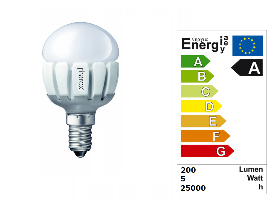 LED Lamp | 230 Volt | 5 Watt | VV 24-40 Watt | Warm Wit | E14