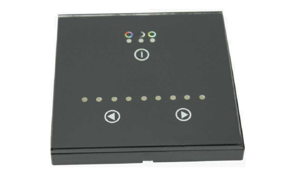 Wall RGB LED Controller | RGBw@re | 3 x 48 Watt | 12-24 Volt | Wallpanel 01