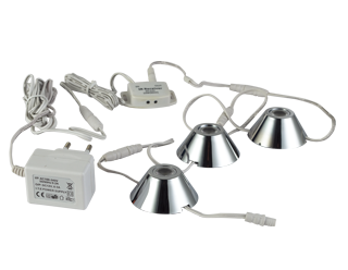 LED Kastverlichting set | 3 Lampjes | 3 x 1,5 Watt | Rond