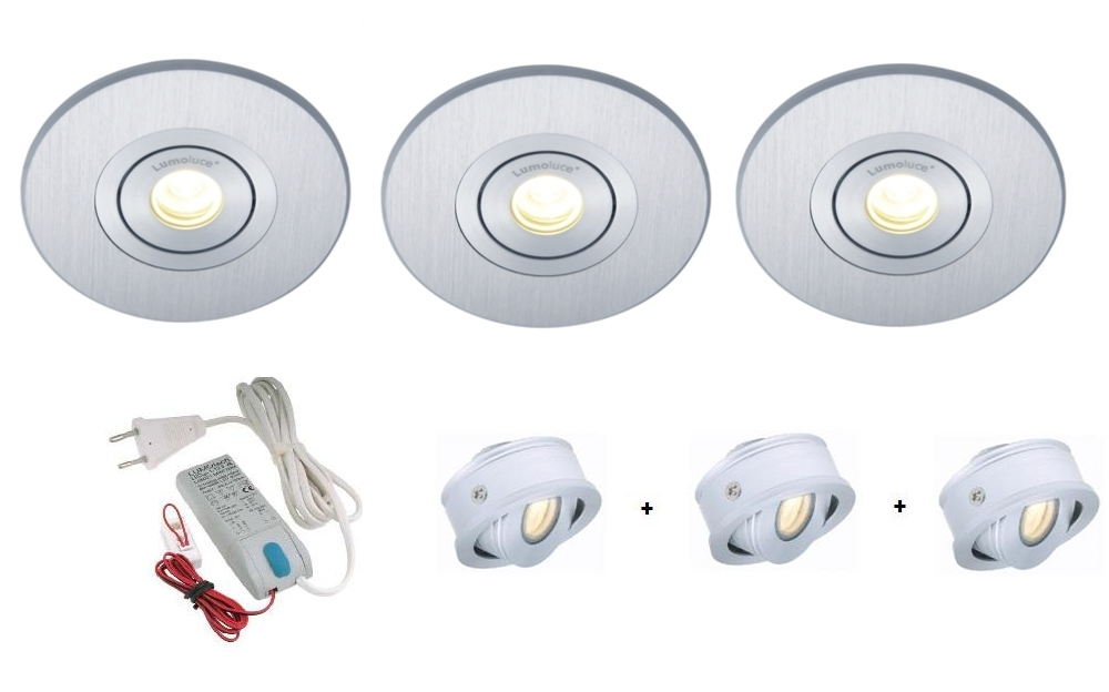 Lumoluce | Luzern + R80 | LED inbouwspot | 2 LED spots | Doe Zelf LED Kit | Warm Wit