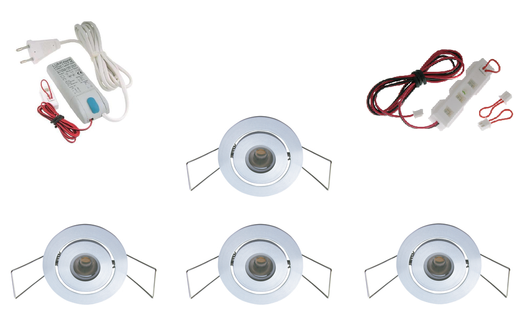 Lumoluce | Luxor | LED inbouwspot | 4 LED spots | 210 Lm | Doe Het Zelf LED Kit | Warm Wi