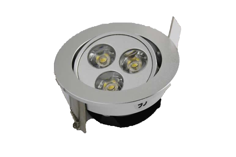 LEDware | LED inbouwspot | 3 LED | Rond | 3 x 1 W | 350 mA | Warm Wit | LW302A350WW