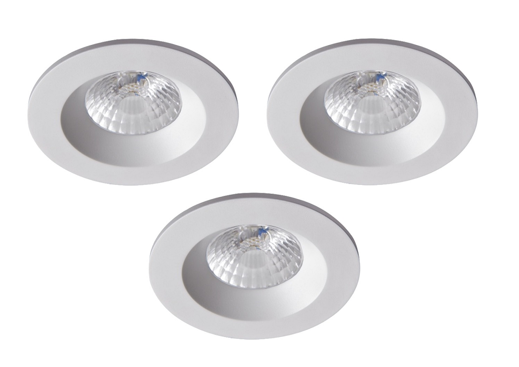 Robus | RC8WDLDWW-01 | LED inbouwspot | 3 LED spots | 575 Lumen | 3 x 8 Watt | Wit
