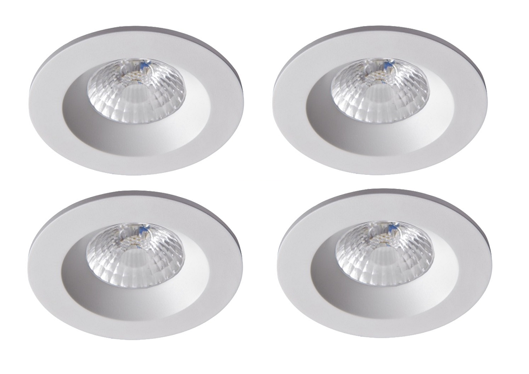 Robus | RC8WDLDWW-01 | LED inbouwspot | 4 LED spots | 575 Lumen | 4 x 8 Watt | Wit