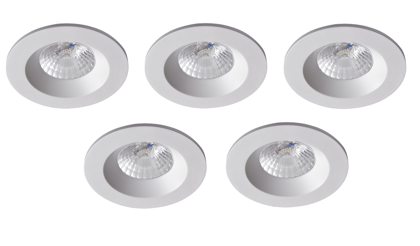 Robus | RC8WDLDWW-01 | LED inbouwspot | 5 LED spots | 575 Lumen | 5 x 8 Watt | Wit