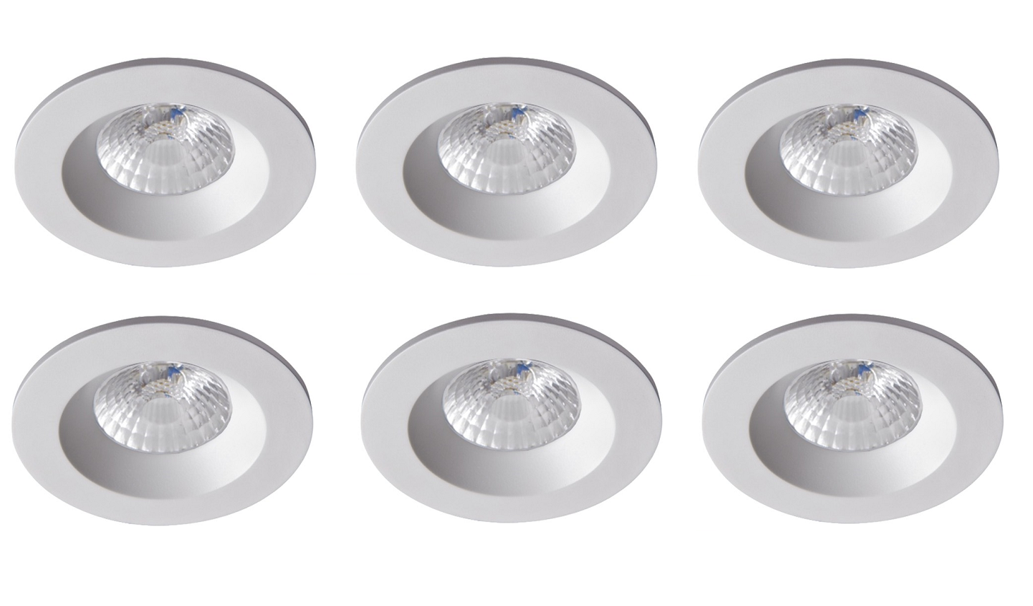 Robus | RC8WDLDWW-01 | LED inbouwspot | 6 LED spots | 575 Lumen | 6 x 8 Watt | Wit