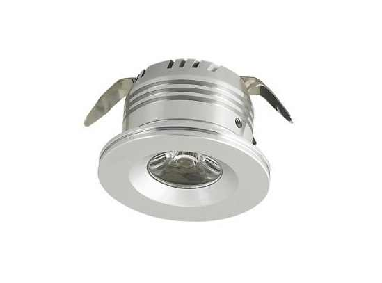 LEDware | LED inbouwspot | 1 LED | Rond | 3 W | 700mA | Warm Wit | LWD3W101WW12V | Alu