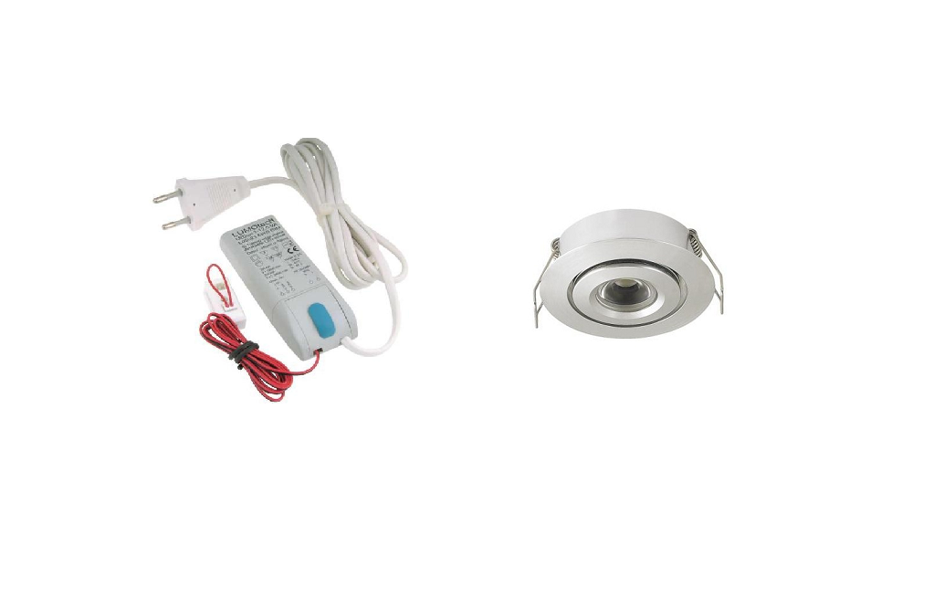 LEDware | LED inbouwspot | 1 LED spots | 180 Lm | Doe Het Zelf LED Kit | Warm Wit | 105A