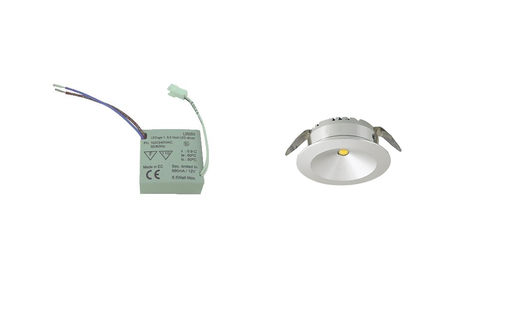 LEDware | LED inbouwspot ND | 1 LED spots | 180 Lm | Doe Het Zelf LED Kit | Warm Wit | 101