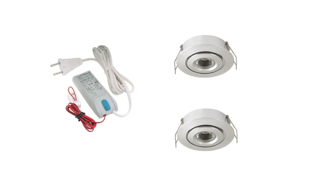 LEDware | LED inbouwspot | 2 LED spots | 180 Lm | Doe Het Zelf LED Kit | Warm Wit | LW105A
