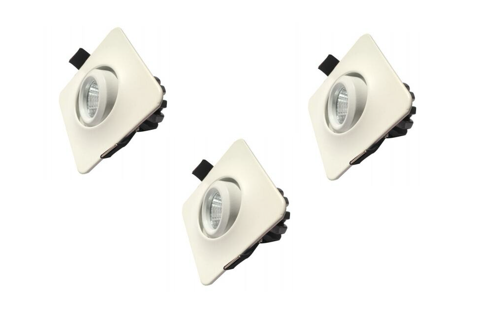 LEDware | LED inbouwspot | 3 LED spots | 210 Lm | Doe Het Zelf LED Kit | Warm Wit | D0304