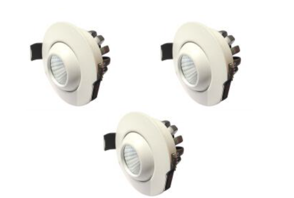 LEDware | LED inbouwspot | 3 LED spots | 210 Lm | Doe Het Zelf LED Kit | Warm Wit | D0308