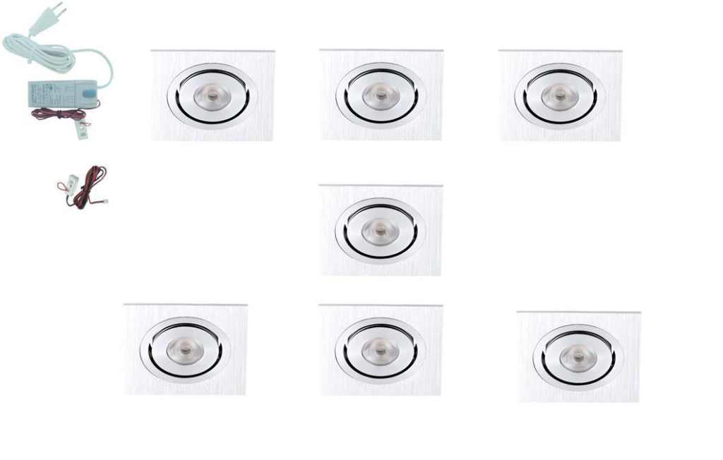 LEDware | LED inbouwspot | 7 LED spots | 190 Lm | Doe Het Zelf LED Kit | Warm Wit | Vierka