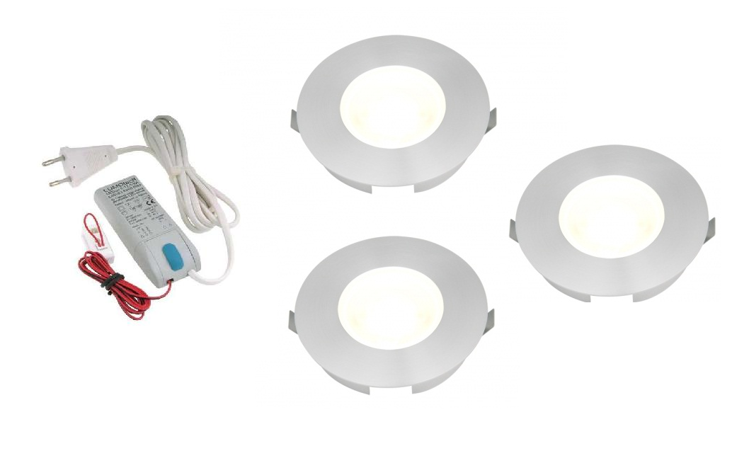 Lumoluce | LED inbouwspot | 3 LED spots | 180 Lm | Doe Het Zelf LED Kit | Warm Wit | SlimL