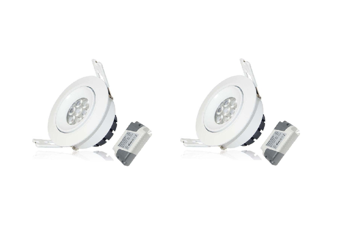 LEDware | LED inbouwspot | 2 LED Spots | 380 Lm | Doe Het Zelf LED Kit | Warm Wit | LWC260