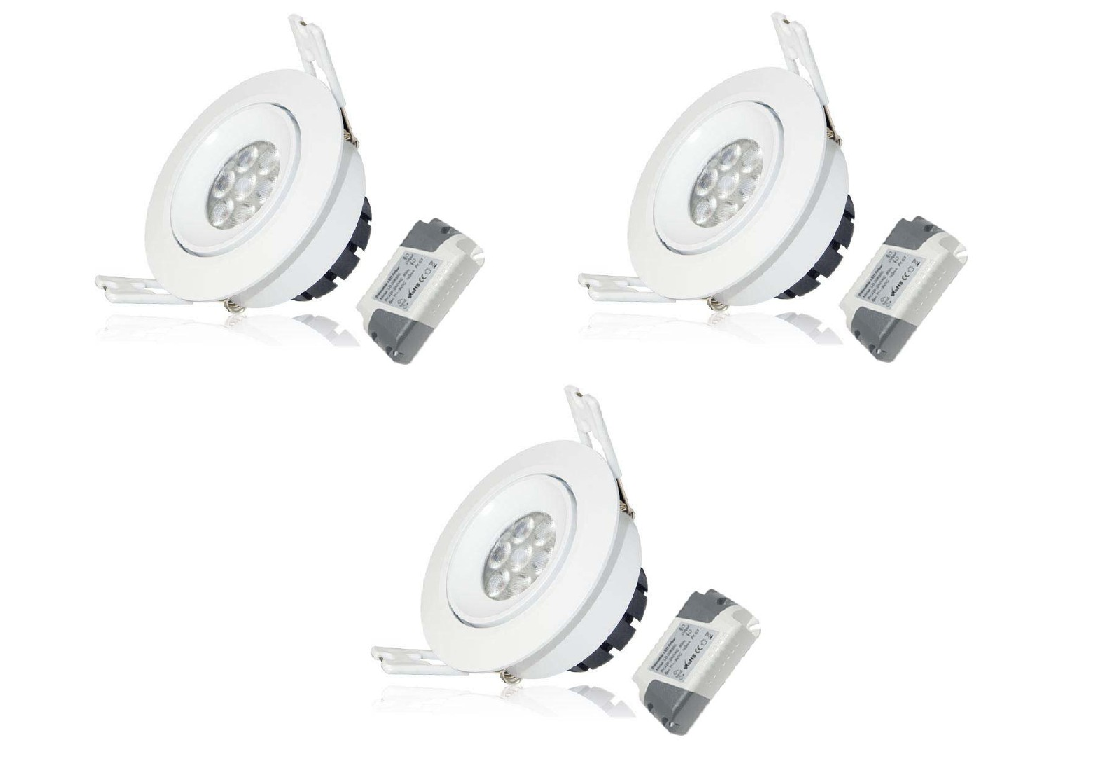 LEDware | LED inbouwspot | 3 LED Spots | 380 Lm | Doe Het Zelf LED Kit | Warm Wit | LWC260