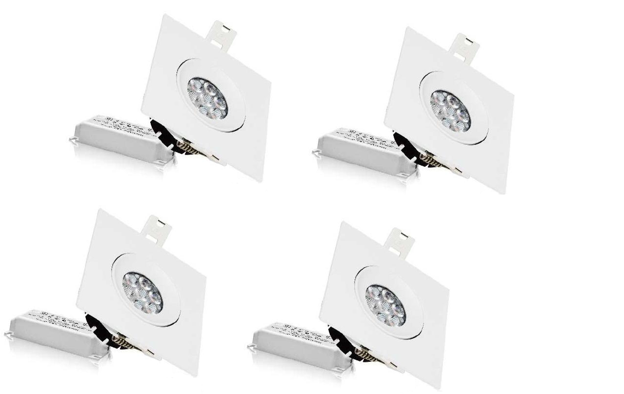 LEDware | LED inbouwspot | 4 LED Spots | 490 Lm | Doe Het Zelf LED Kit | Warm Wit | LWC250