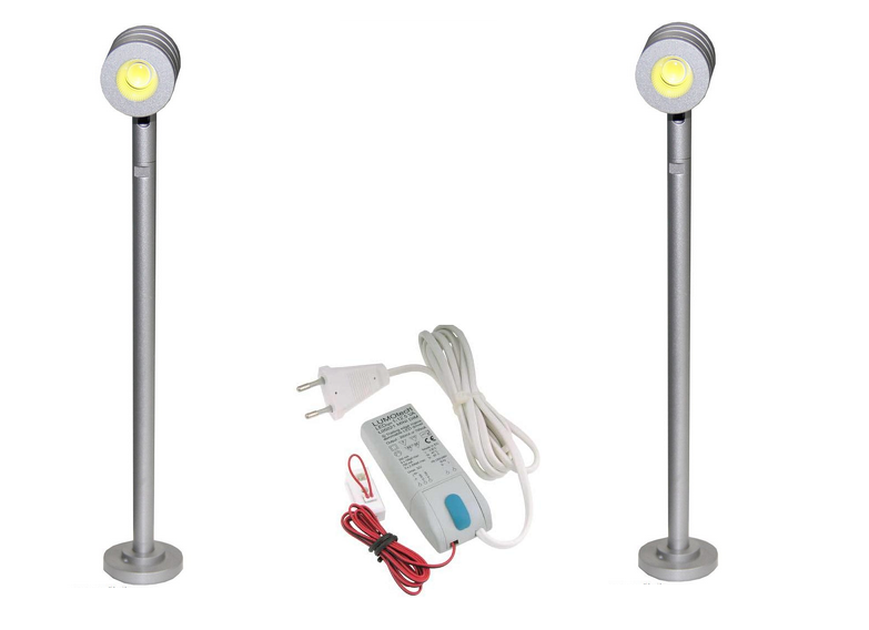 LED Vitrine Spot | Kit | Type Show | 2 x 1,5 Watt | Warm Wit | 180 Lumen | LWVIJS013WKIT02
