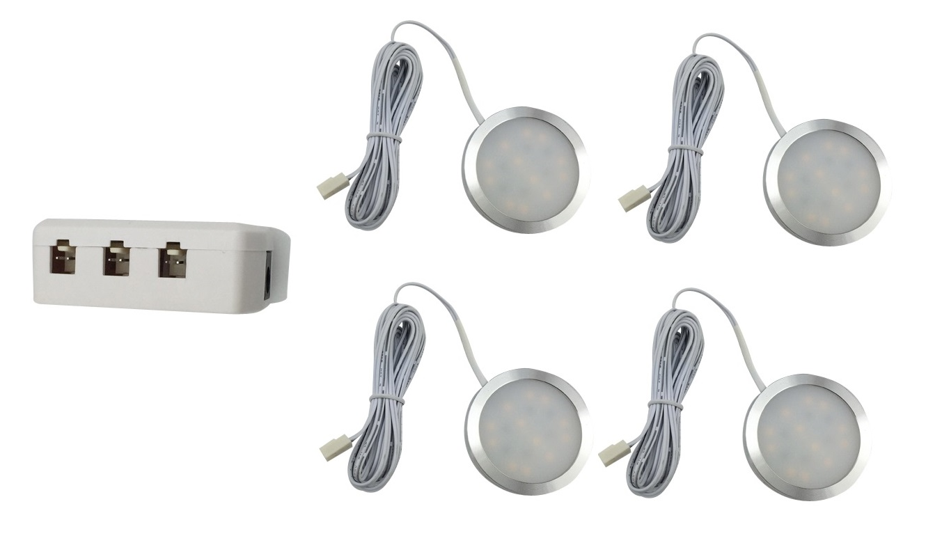 LEDware | LED Kastverlichting set | 4 Lampjes | 4 x 1 Watt | LWLS0855-4