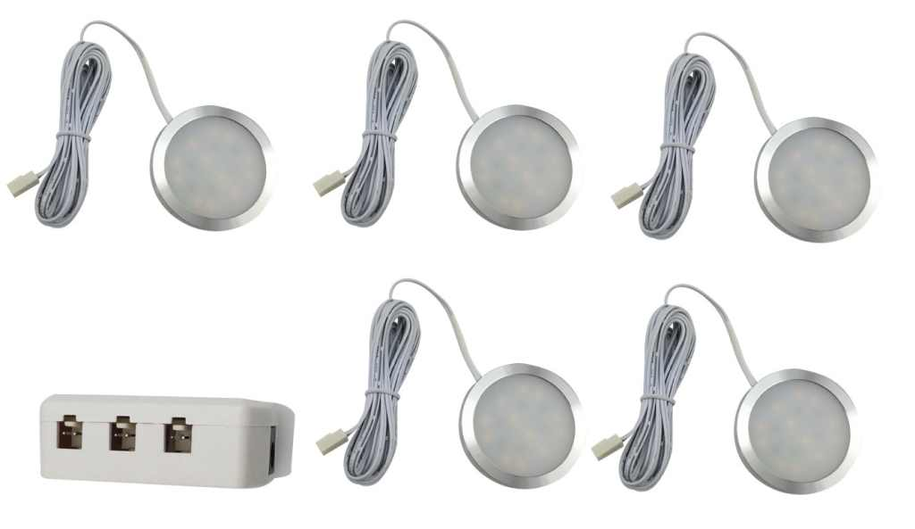 LEDware | LED Kastverlichting set | 5 Lampjes | 5 x 1 Watt | LWLS0855-5
