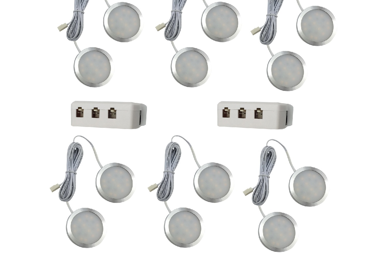 LEDware | LED Kastverlichting set | 12 Lampjes | 12 x 2 Watt | LWLS0848-12
