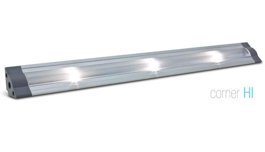 LED Strip | Hoek | Type CORNER HI | 30,5 Cm | Warm Wit | 24 Volt