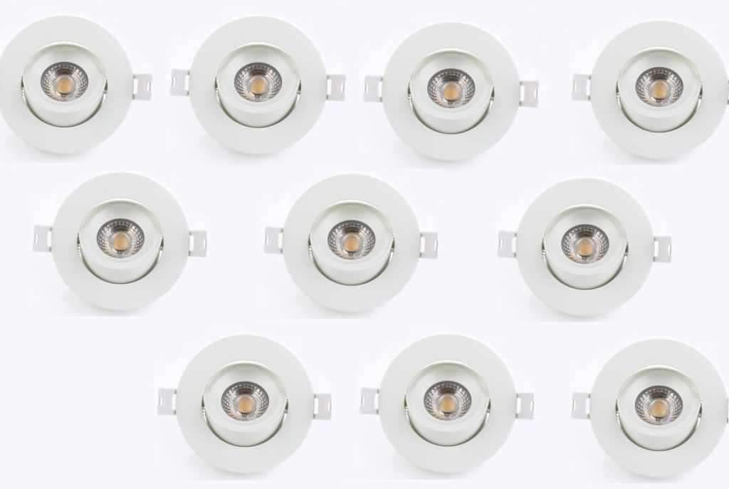 LEDware | LED inbouwspot | 10 LED spots | 500 Lm | Doe Het Zelf LED Kit | Warm Wit | Rond