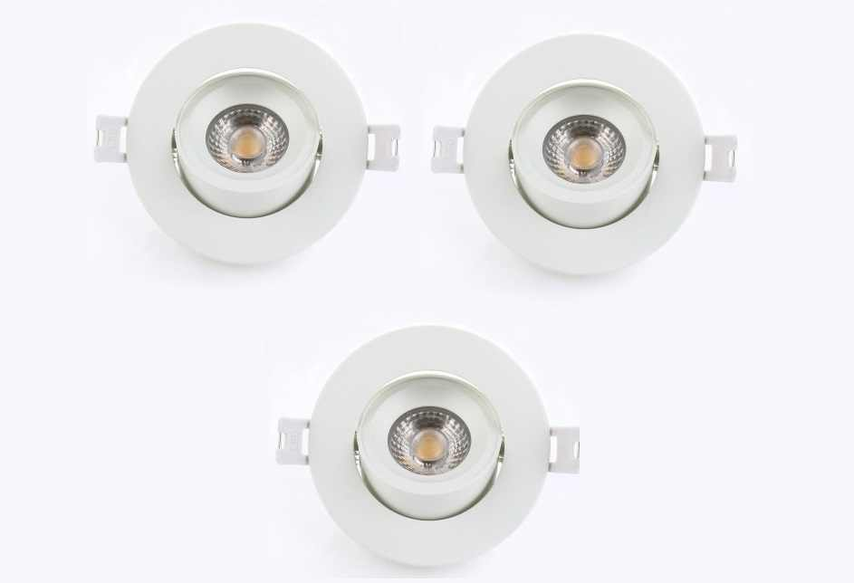 LEDware | LED inbouwspot | 3 LED spots | 500 Lm | Doe Het Zelf LED Kit | Warm Wit | Rond