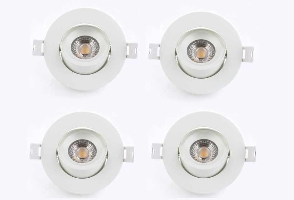 LEDware | LED inbouwspot | 4 LED spots | 500 Lm | Doe Het Zelf LED Kit | Warm Wit | Rond