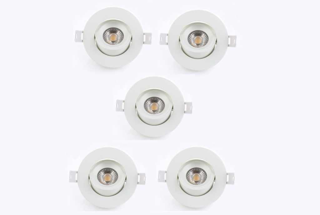LEDware | LED inbouwspot | 5 LED spots | 500 Lm | Doe Het Zelf LED Kit | Warm Wit | Rond