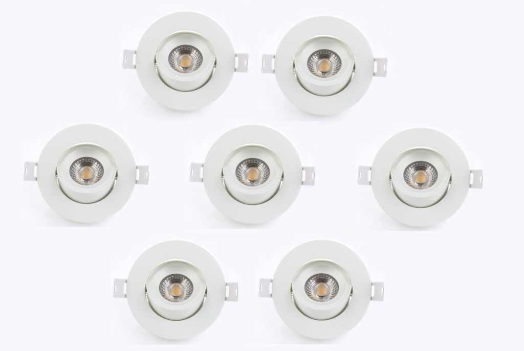 LEDware | LED inbouwspot | 7 LED spots | 500 Lm | Doe Het Zelf LED Kit | Warm Wit | Rond