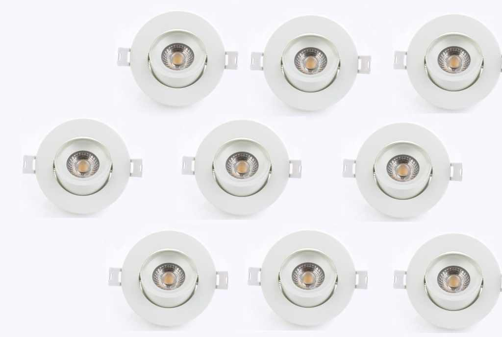 LEDware | LED inbouwspot | 9 LED spots | 500 Lm | Doe Het Zelf LED Kit | Warm Wit | Rond