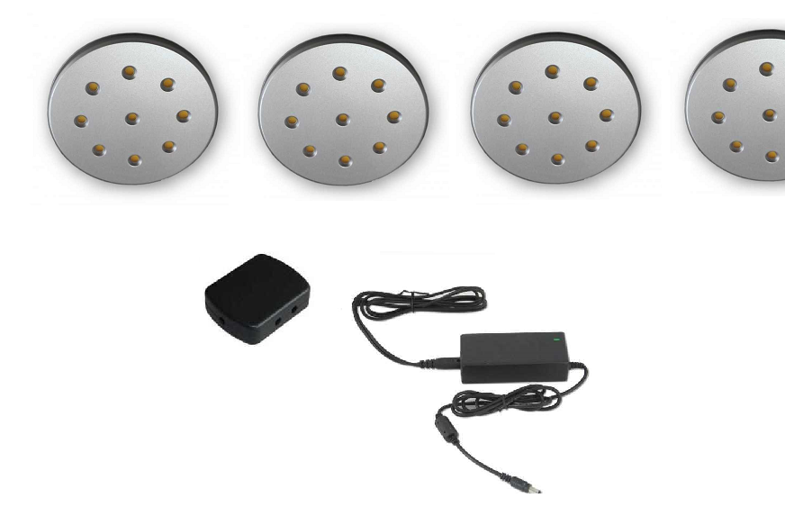 LED Kastverlichting set | 4 Lampjes | LWDS68H5.WW.03 | 3 x 2,2 Watt | Rond