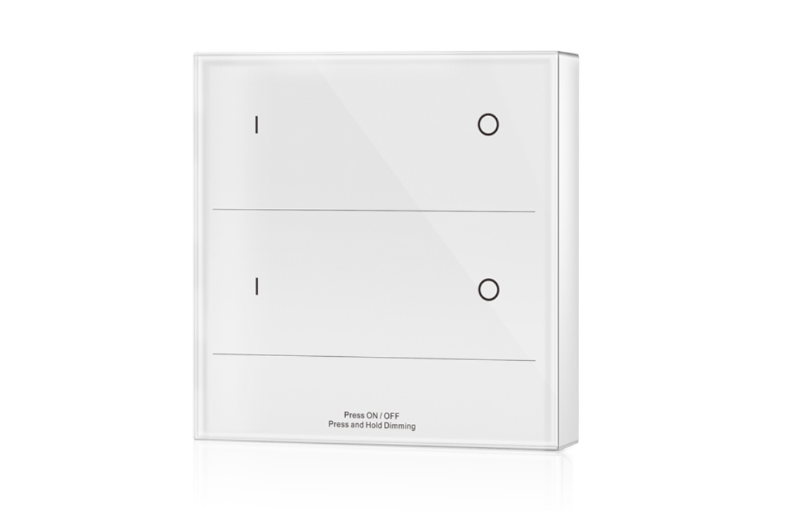 LED Dimmer | 10 Zonne | RF afstandsbediening Muur opbouw | 2 Zonne | Wit