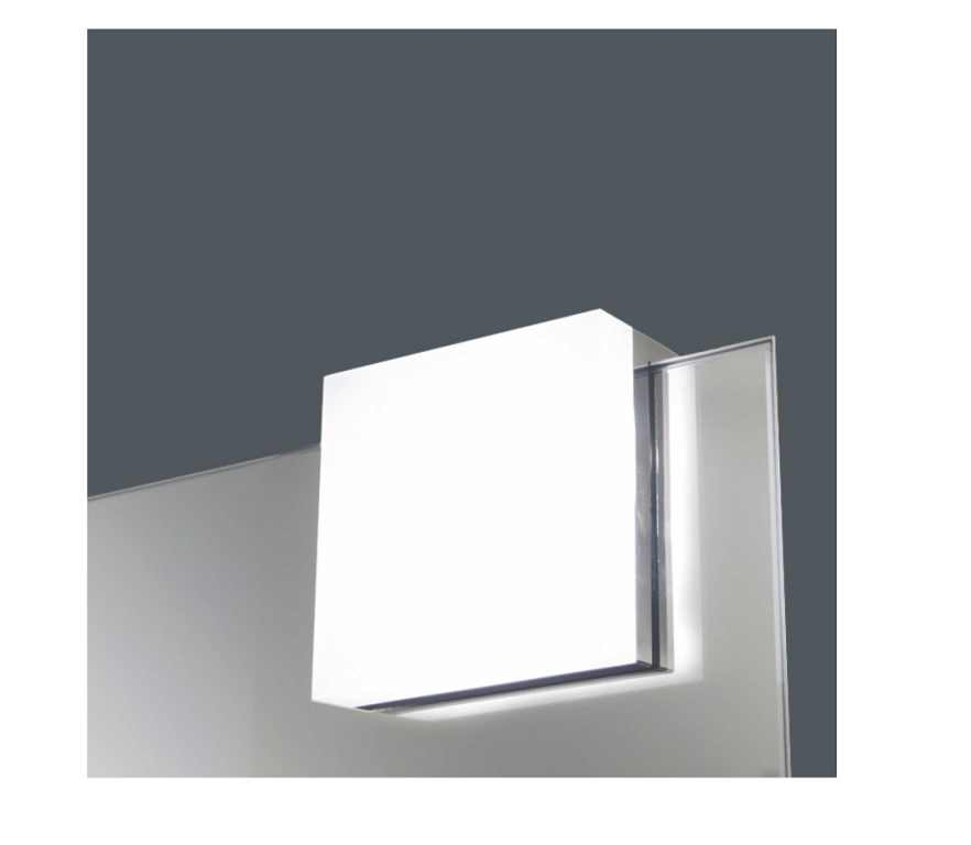 Designw@re | LED Spiegel / Kastverlichting set | 1 Lampje | 5 Watt | Chroom | LW2556.144WW